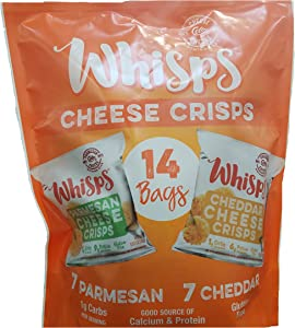 Whisps Cello Variety Paremsean and Cheddar, 14 Count (.551), 8.82 Ounces…