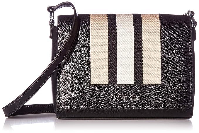Amazon.com: Calvin Klein Clara Stucco - Bolso bandolera de ...