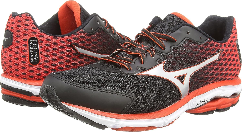MizunoWave Rider 18 - Zapatillas de running hombre , color negro (black/silver/orange), talla 40: Amazon.es: Zapatos y complementos
