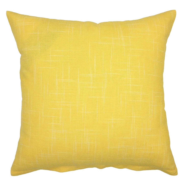 Shoptagr | Your Smile Pure Yellow Square Decorative Throw ...