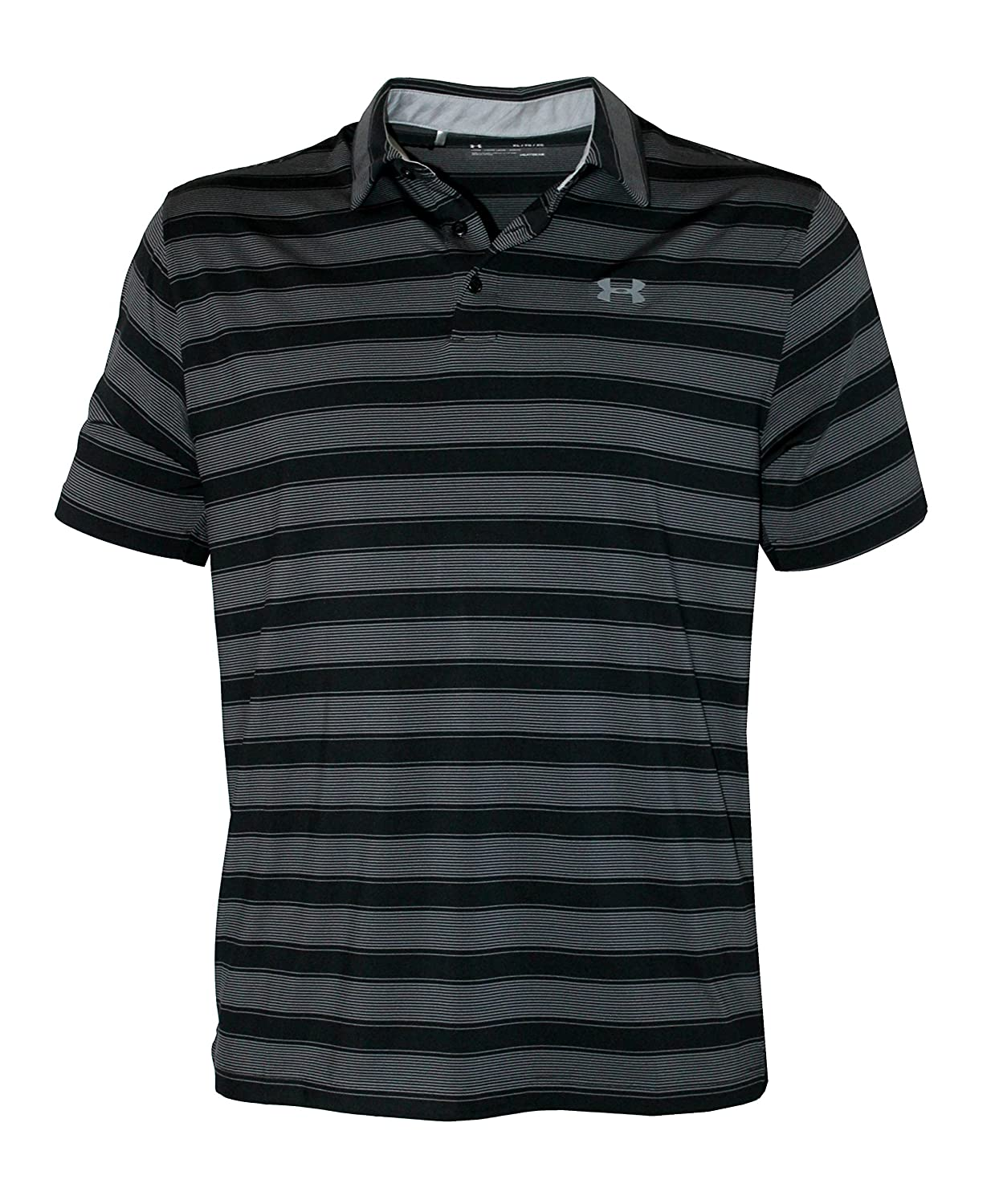 fb89ee6790 Under Armour Men's Performance Striped Shirt HeatGear Polo at Amazon Men's  Clothing store: