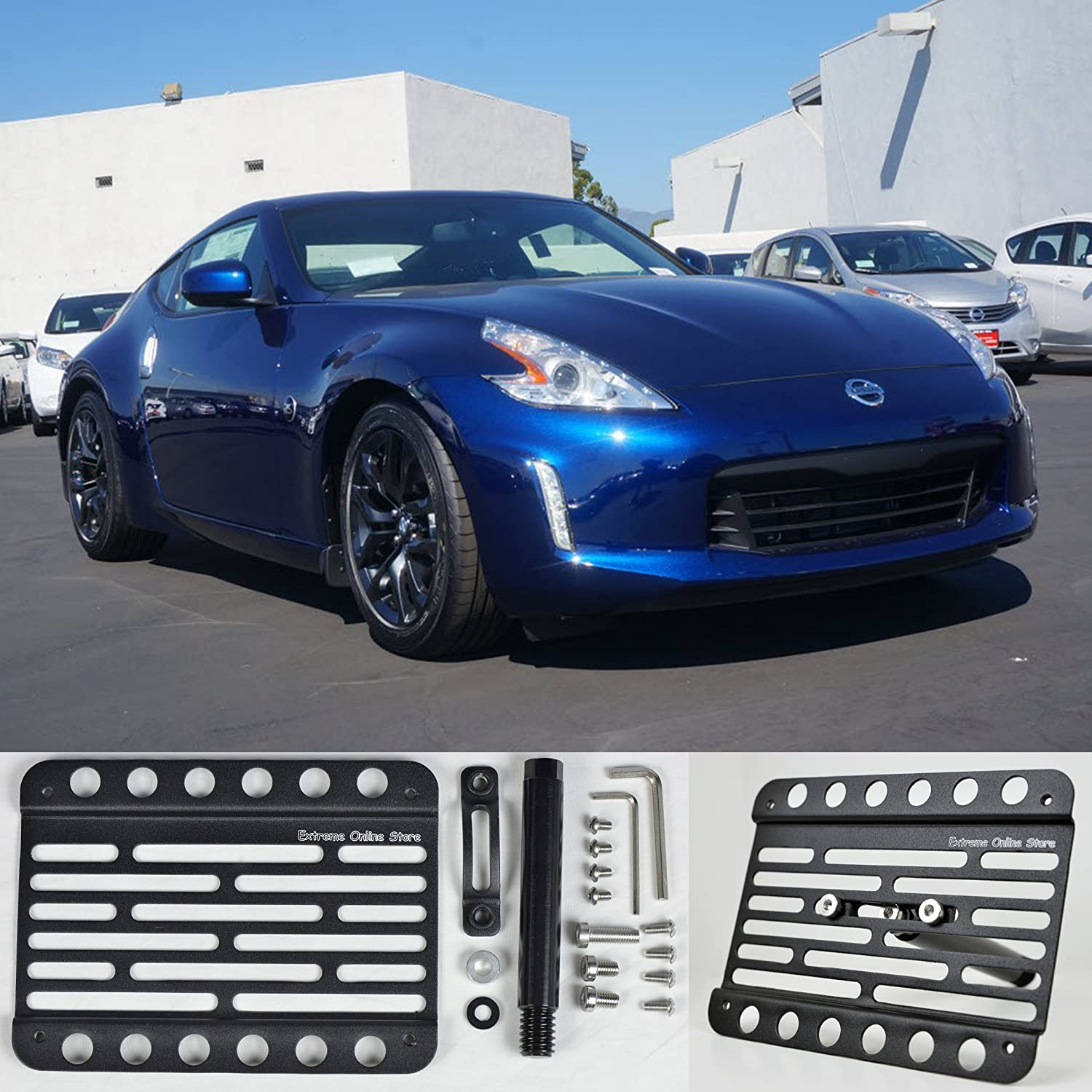 Amazon.com: For 2013-Up Nissan 370Z Front Tow Hook Mount License ...