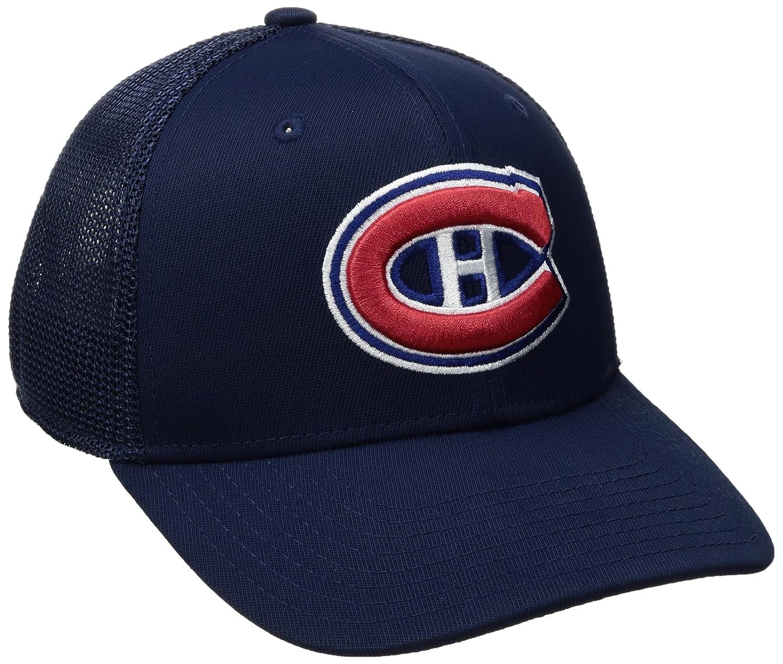 Navy NHL Montreal Canadiens Mens SP17 Trucker Structured Flex Cap Small//Medium