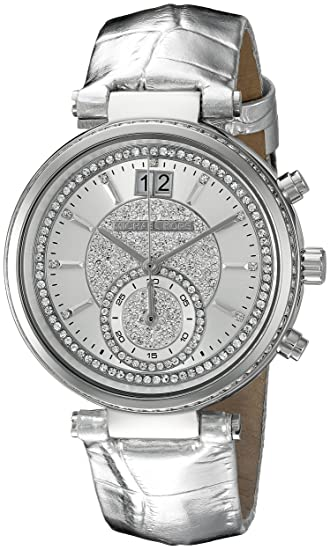 f35e6daa7 Image Unavailable. Image not available for. Color: Michael Kors Women's  Sawyer Silver-Tone Watch MK2443