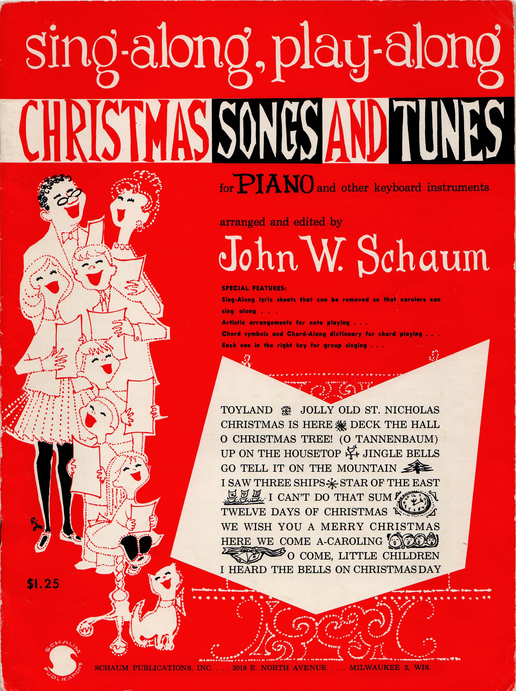 SING-ALONG, PLAY-ALONG CHRISTMAS SONGS AND TUNES FOR PIANO OR ORGAN ...