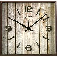 Versa 18560222 Reloj de pared Cuadrado, Ø28x28x4cm, Vintage