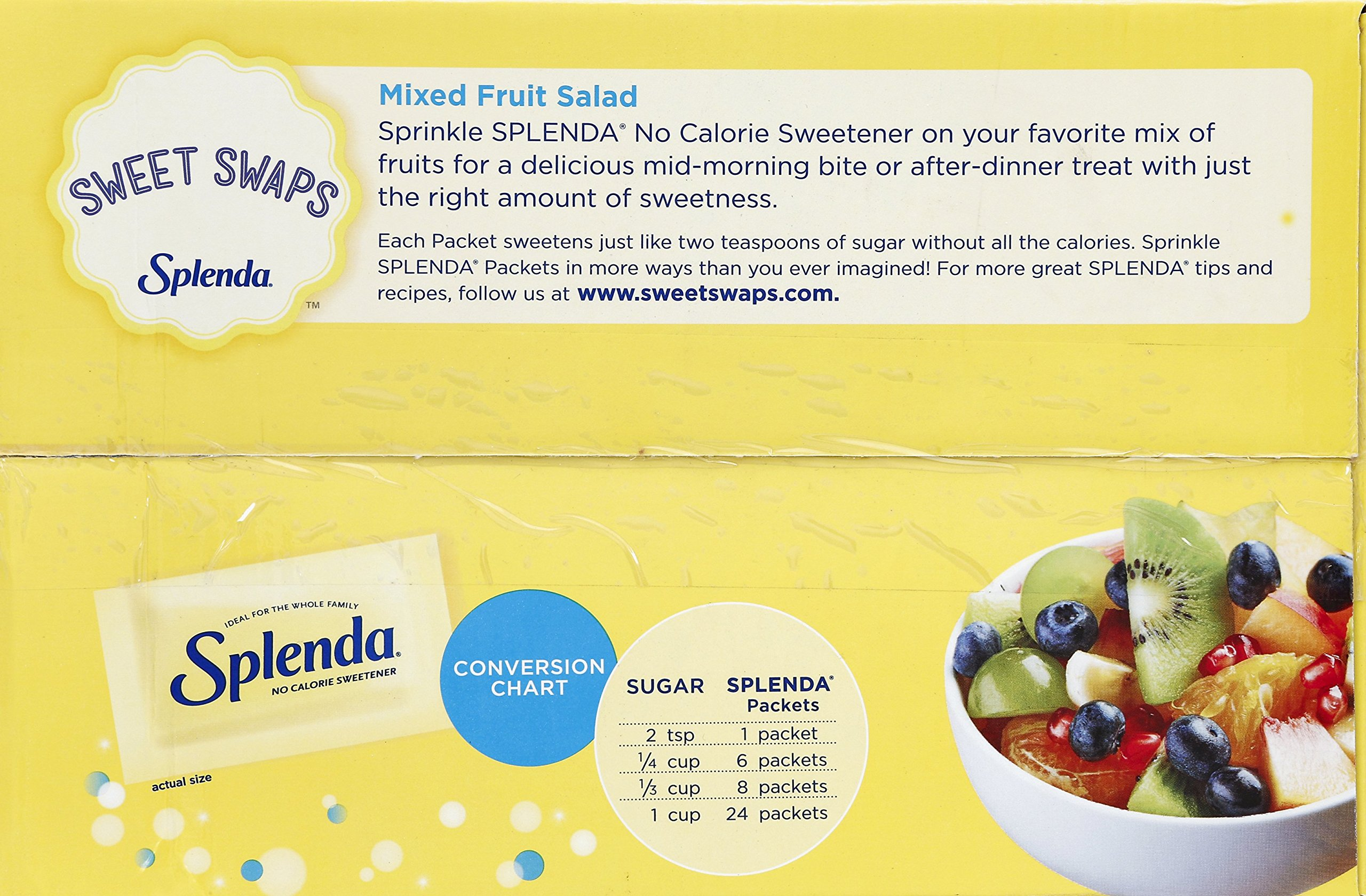 Splenda No Calorie Sweetener Value Pack,Sugar Substitute for Use with Coffee, Tea, Fruit, Cereal, and More, 1000 Count by Splenda (Image #5)