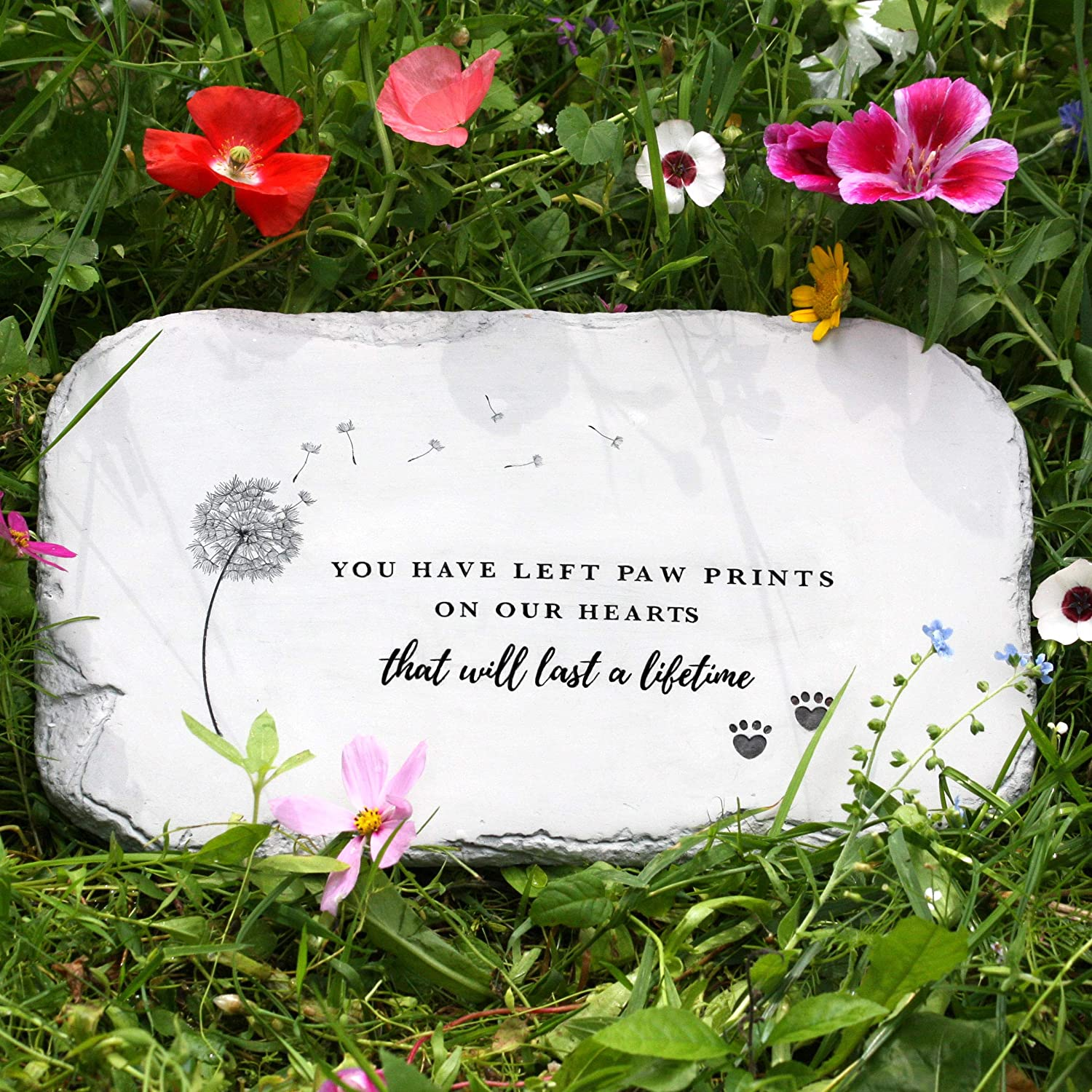 PetAngell Pet Memorial Stones, Loss of Dog Memorial Suited to Cats and All Animals - Pet Grave Markers for The Garden or Home, 10.5 x 7 x 0.5 inches: Waterproof Resin