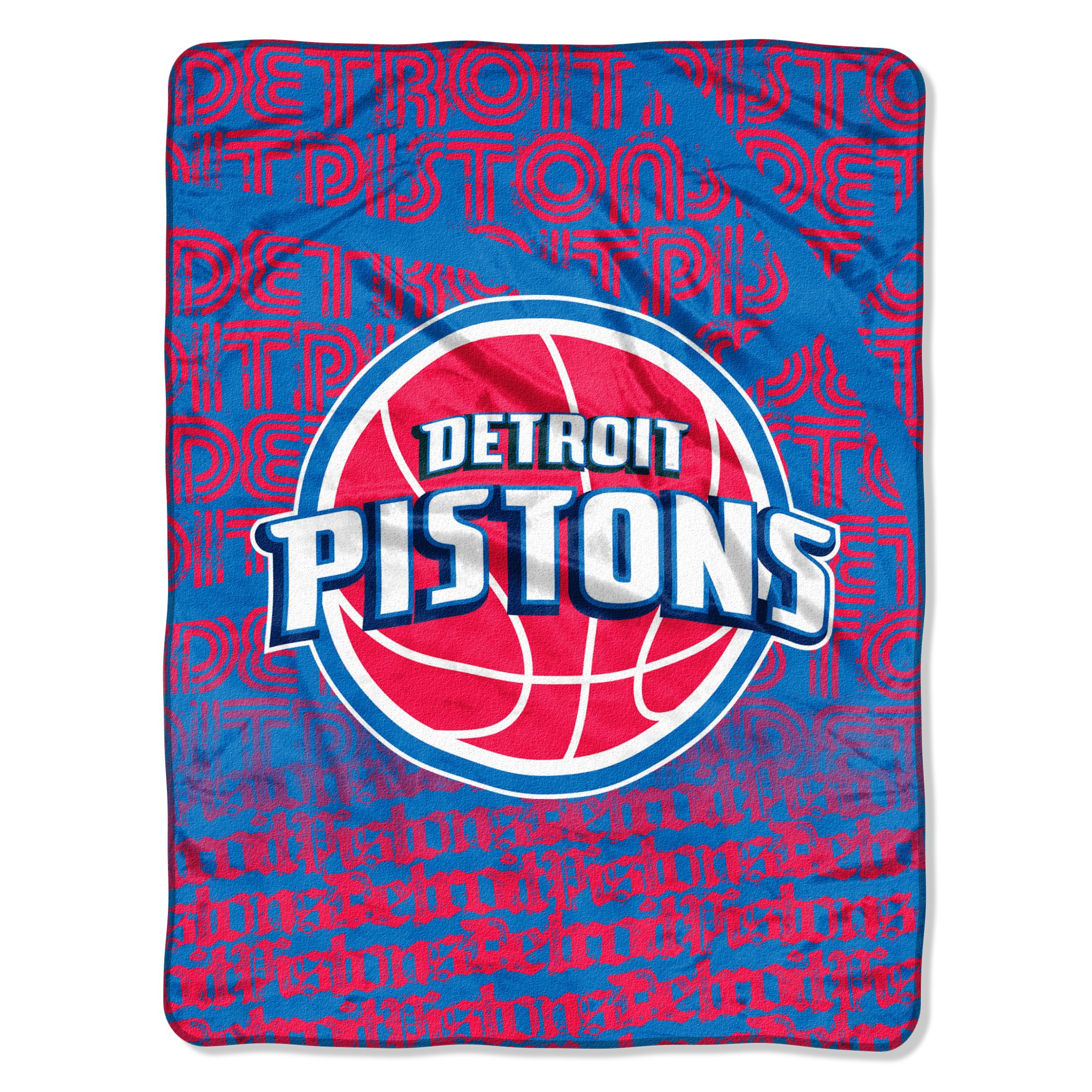 The Northwest Company Officially Licensed NBA Detroit Pistons Redux Micro Raschel Throw Blanket, 46'' x 60''