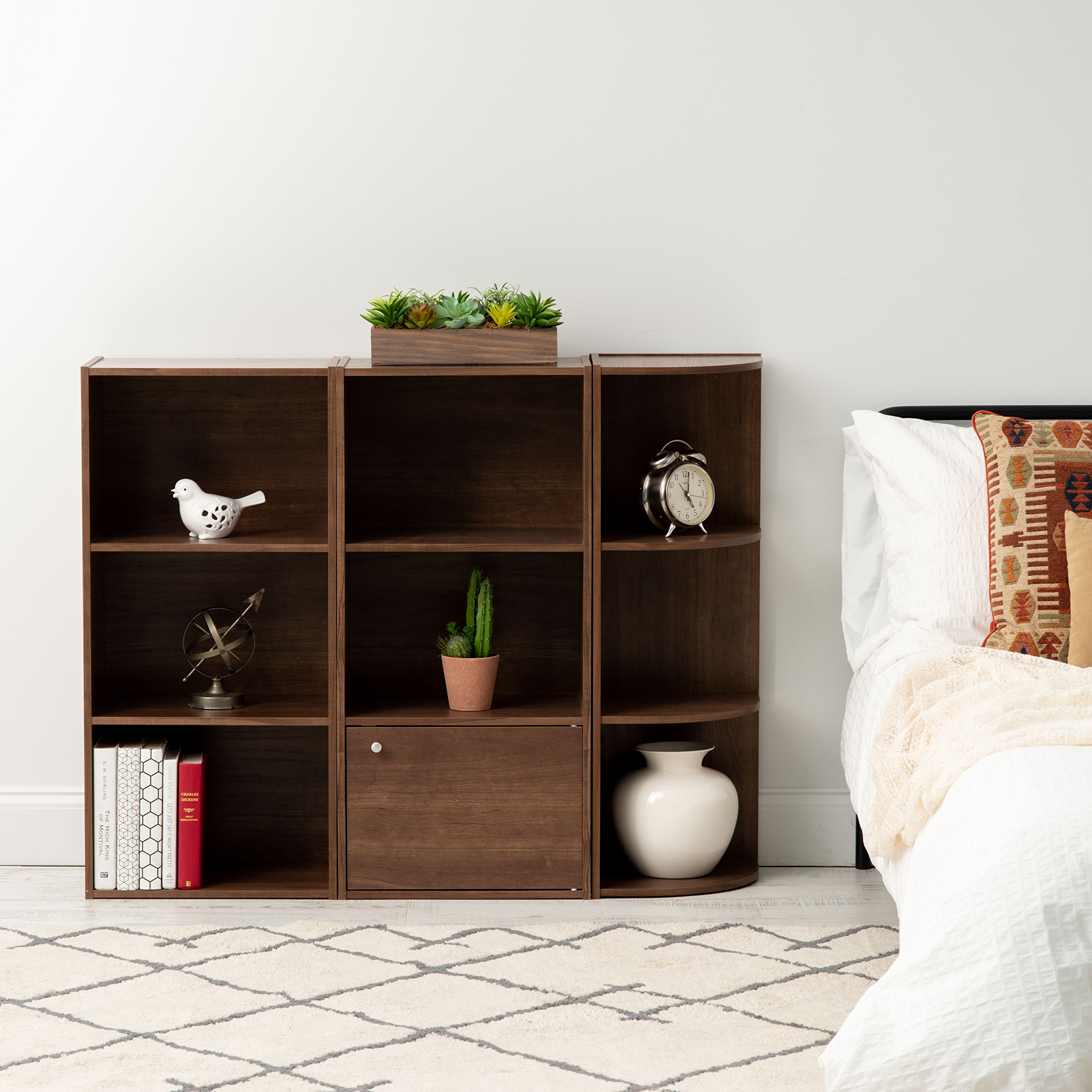 IRIS 3-Tier Basic Wood Bookcase Storage Shelf, Dark Brown by IRIS USA, Inc. (Image #4)