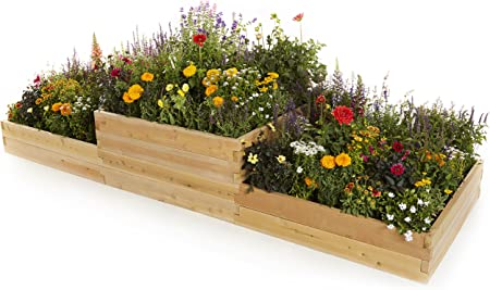 naturalyards Raised Garden Bed, multinivel: Amazon.es: Jardín