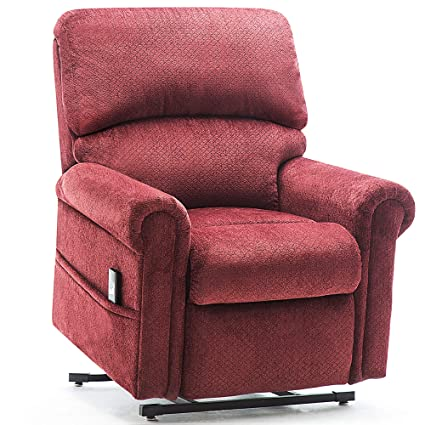 Amazon Fabric Power Lift Chair Sofa Recliner For Elderly Living