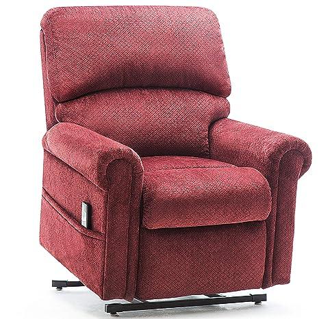 Amazon.com: Sofá reclinable de tela, elevador de potencia ...