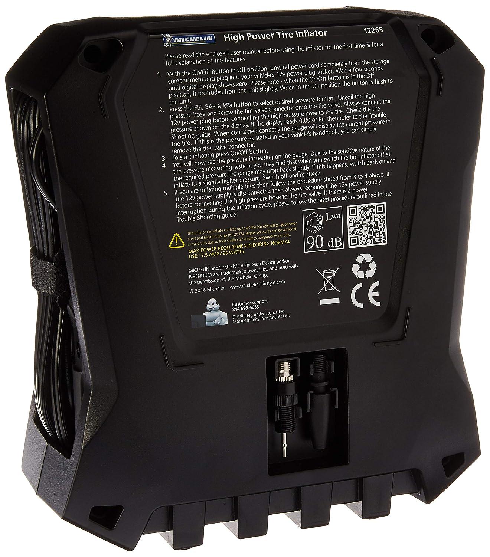 Michelin 12265 Compresor de aire eléctrico, 12 V, con pantalla: Amazon.es: Coche y moto