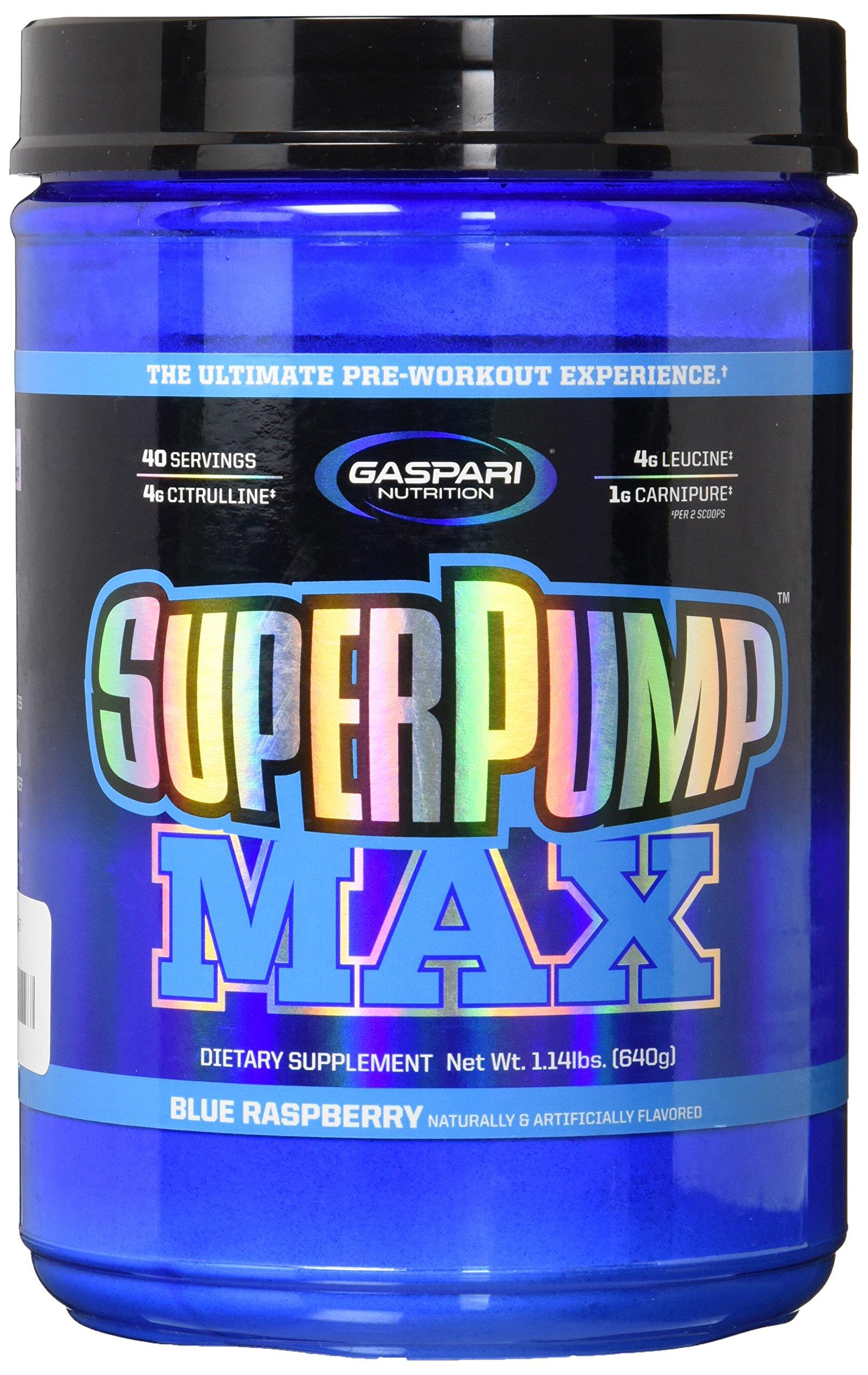 Gaspari Nutrition Super Pump Max Blue Raspberry 40 Serving