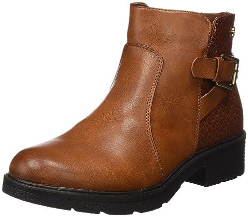 XTI 047346, Botines para Mujer, Hueso (Camel), 40 EU: Amazon.es: Zapatos y complementos