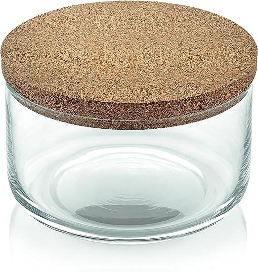 IVV Kitchen Caja con tapón Corcho, Cristal, Transparente, 0.24 x ...