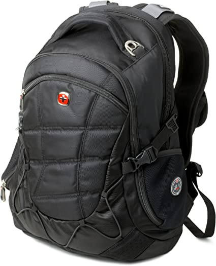 Black 15.6/' Swiss Gear Backpack Computer Laptop School Bag Men's Travel Backpack