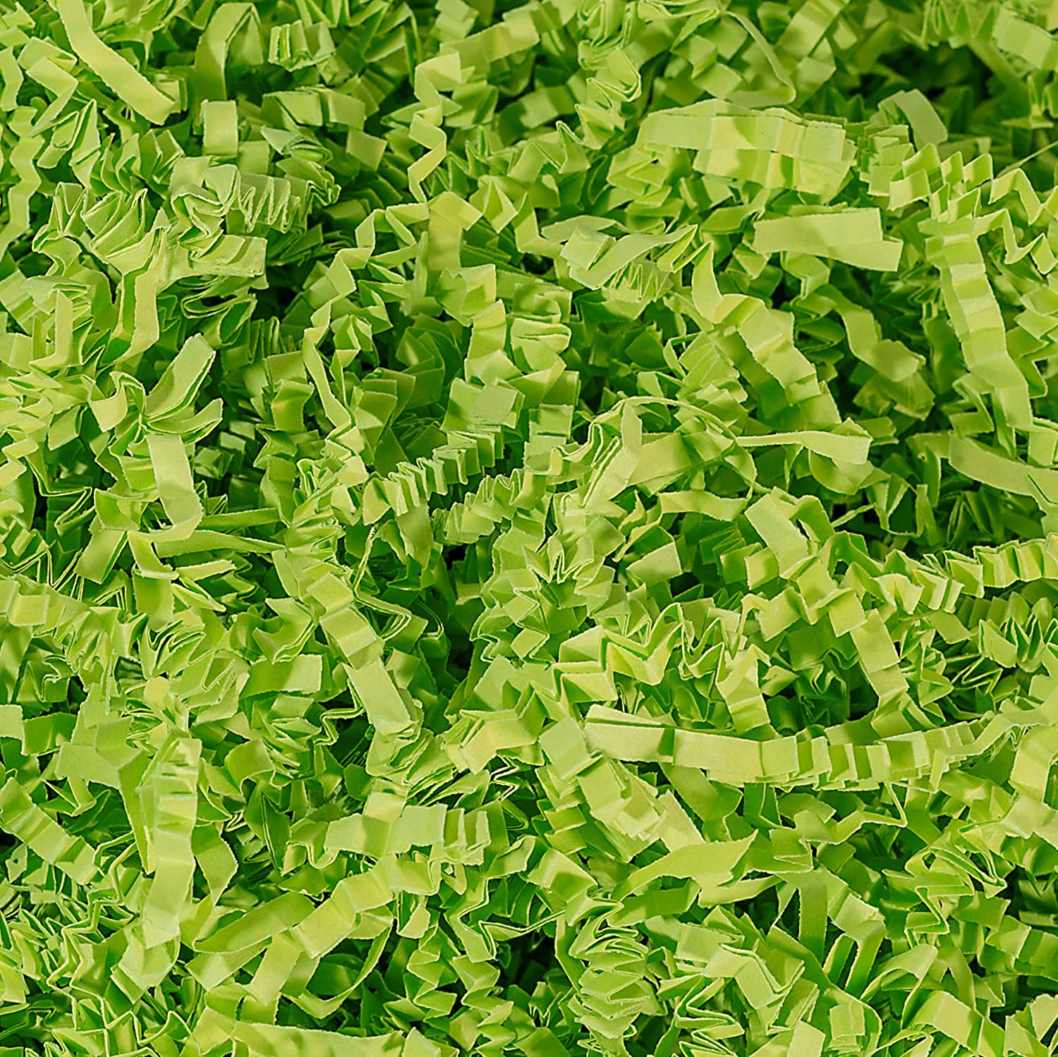 Crinkle Cut Paper Shred Filler (1/2 LB) for Gift Wrapping & Basket Filling - Lime Green | MagicWater Supply