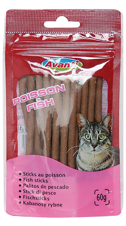 Zolux - Friandises Pour Chat En Sticks - Sticks Au Poisson, Sachet de 60 G