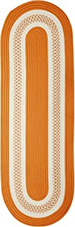 product image for Crescent Oval Area Rug, 2 by 8-Feet, Orange