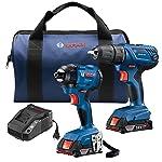 Bosch gxl18V-26b2218V 2herramientas Combo Kit con 1/2en. Taladro/Atornillador compacto y 1/4en. Hexagonal...