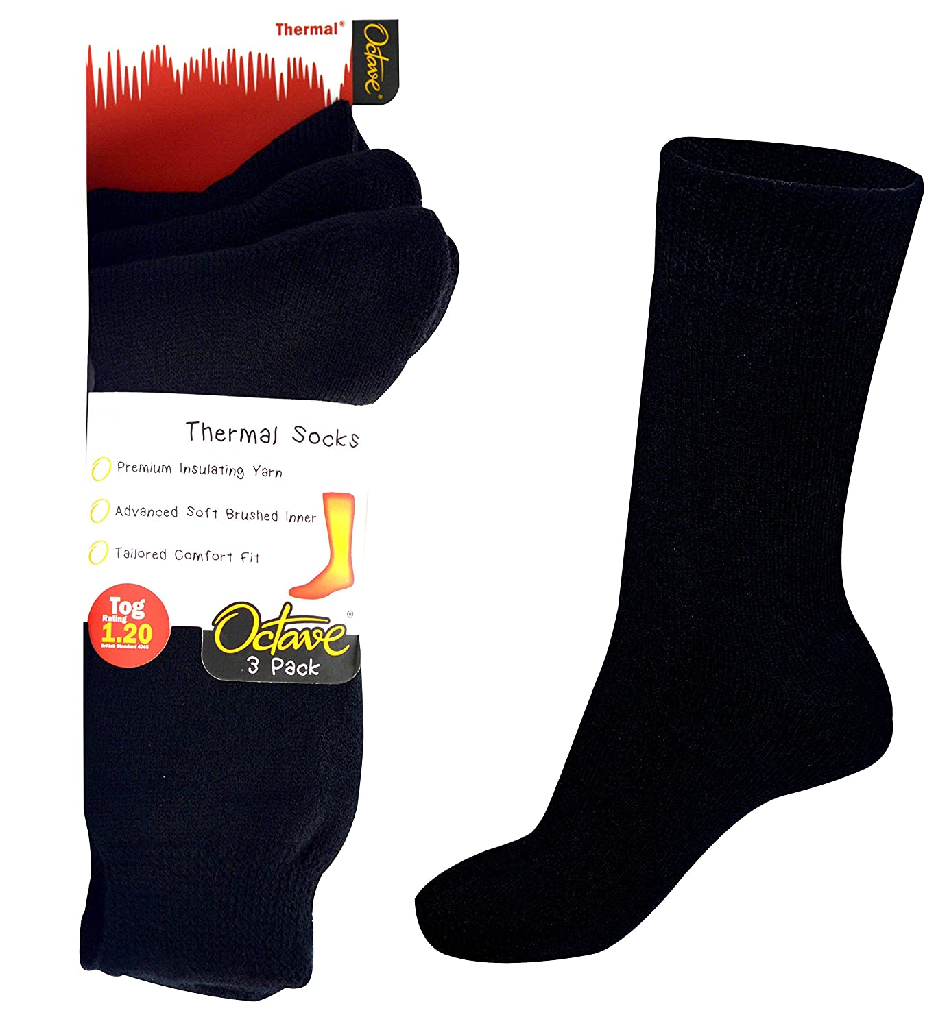 3 Pairs or 6 Pairs OCTAVE/® Girls Thermal Socks 1.2 TOG