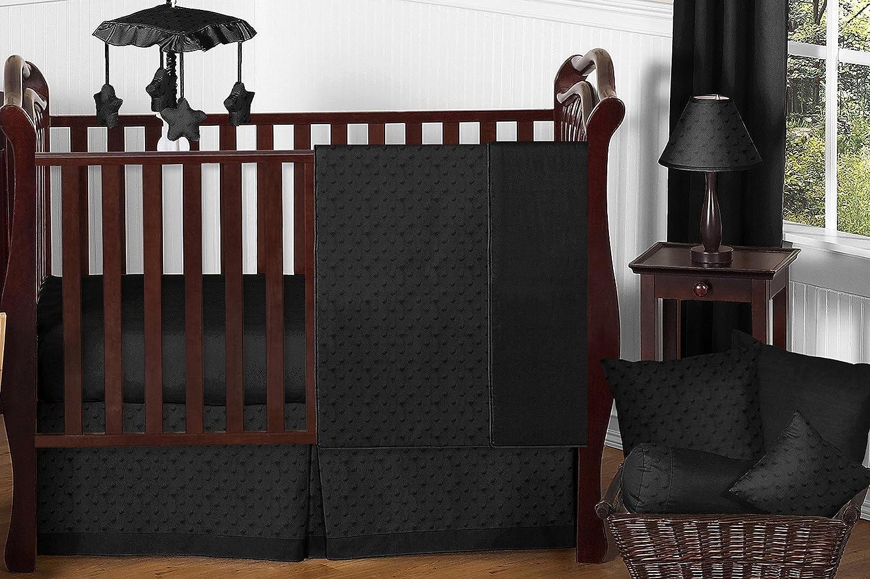 Amazon.com: Sweet Jojo Designs 11 piezas negro sólido Minky ...