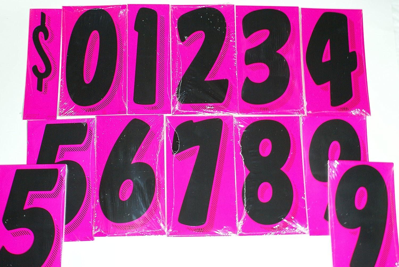 Great Link 7 1//2 Vinyl Number Windshield Dealership Decals 13 Dozen Car Lot Dealer Window Pricing Stickers Black /& White