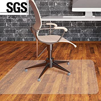 MVPOWER Office Chair Mat For Hard Floor Protection Clear Multi Purpose PVC Office  Floor Mats