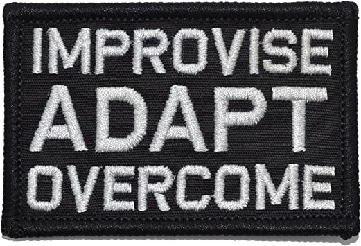 Hook Camo Green Improvise Adapt Overcome Marines Army Tactical Morale Patch