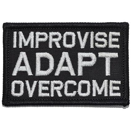 064fba64a02 Amazon.com  Improvise Adapt Overcome - 2x3 Morale Patch - Black  Arts