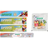 ZIPOUCH Multipurpose Storage Pouch and Freezer Bags Combo, 5-Piece, Combo No 2