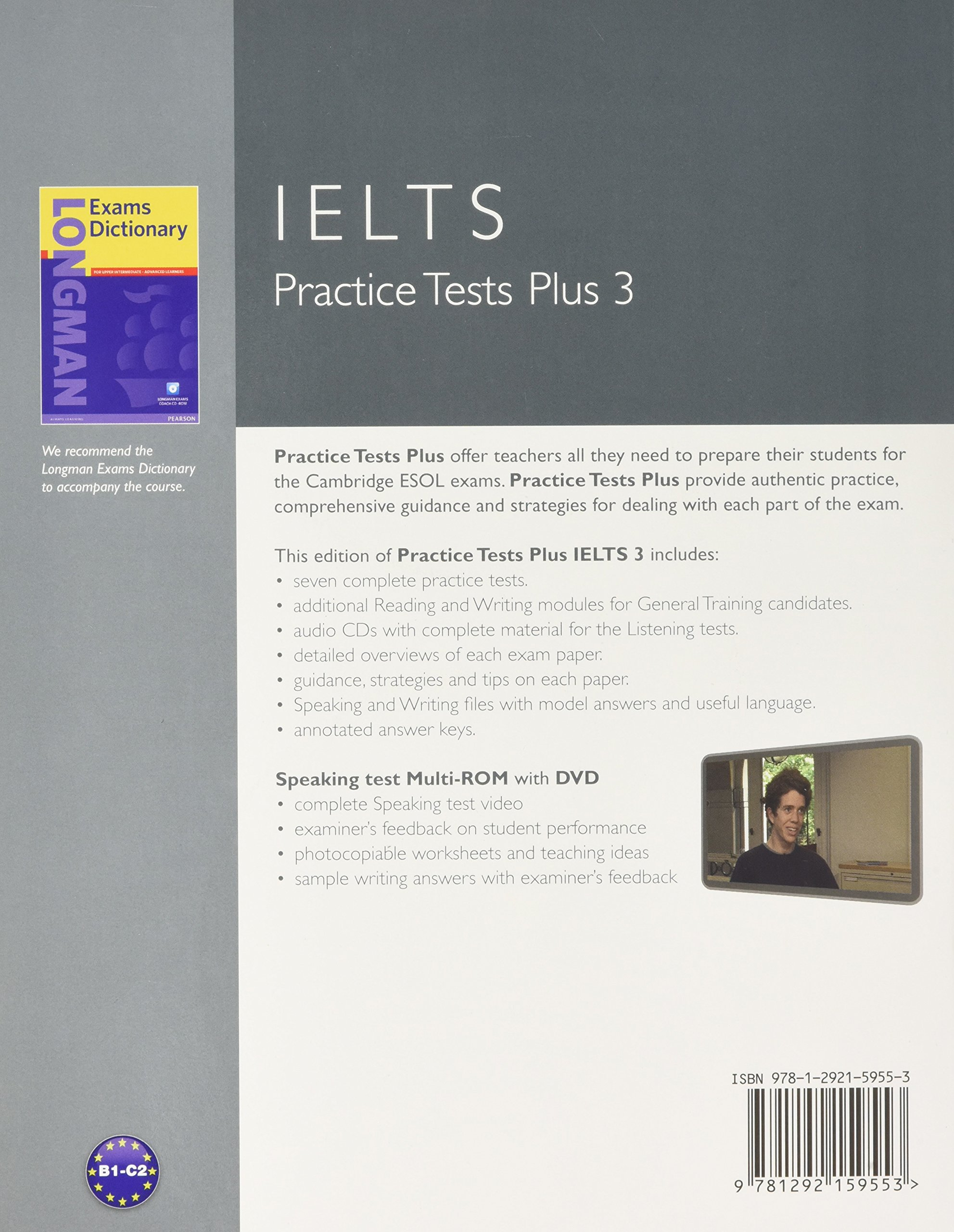 Practice tests plus ielts 3 with key and multi rom audio cd pack amazon co uk margaret matthews katy salisbury 9781292159553 books