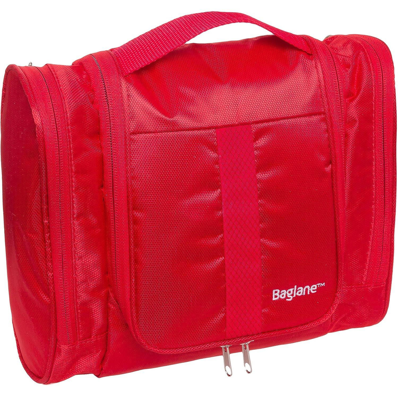 759cf3c12e Amazon.com   Travel Toiletry Bag for Men by Baglane - Travel Kit Toiletries  Packing Organizer (Red)   Beauty