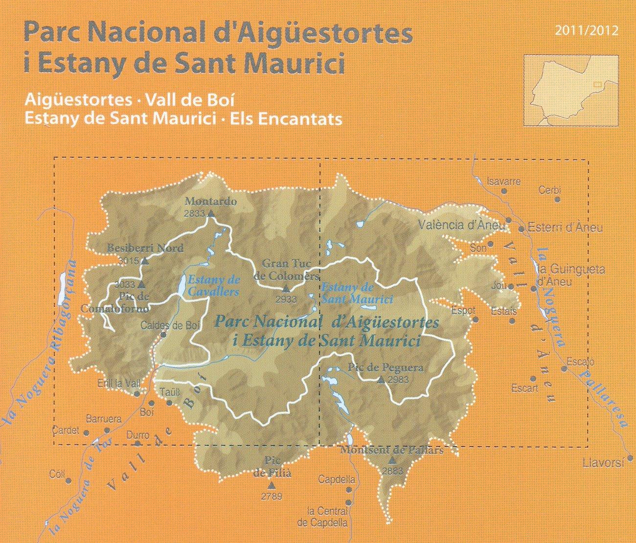 Aigüestortes i Estany de Sant Maurici Parque Nacional 1:25.000 ...