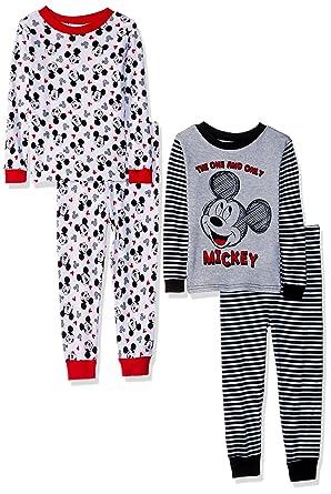 2f4f3ce19 Amazon.com  Disney Toddler Boys  Mickey Mouse 4-Piece Cotton Pajama ...
