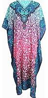 Mia Creations Floral Print Long Kaftan Plus Size Maxi Dress