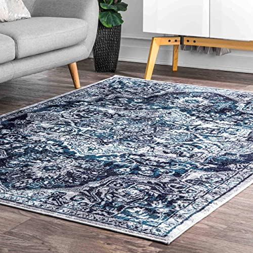 nuLOOM Maryanne Medallion Area Rug, 10 x 13 , Blue