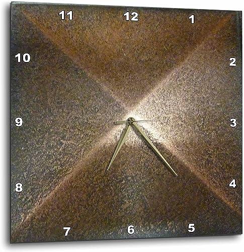 3dRose DPP_53244_3 Bronze Metal Medallion Wall Clock, 15 by 15-Inch