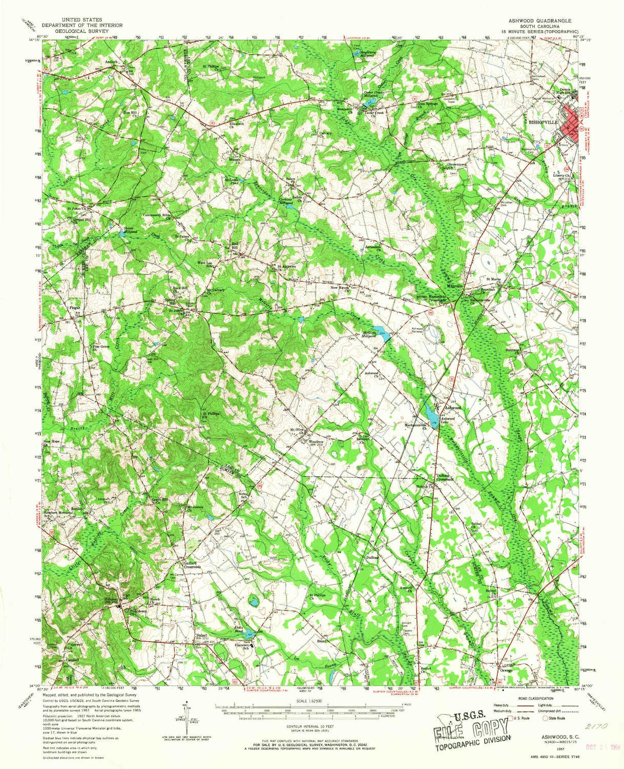 Amazon Com Yellowmaps Ashwood Sc Topo Map 1 62500 Scale 15 X 15