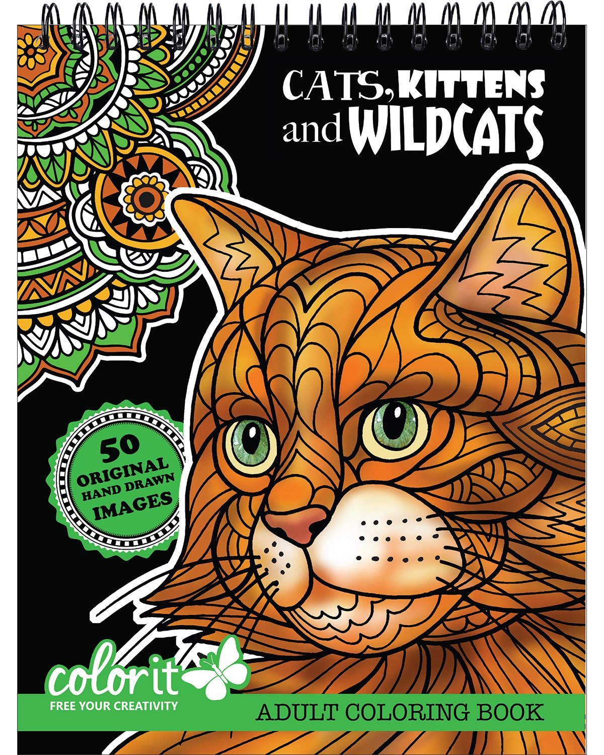 Cats Kittens Wildcats Adult Coloring product image