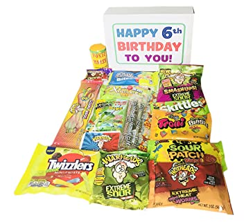 Image Unavailable Not Available For Color Woodstock Candy Sour Assortment Kids 6th Birthday Gift 6 Year Old