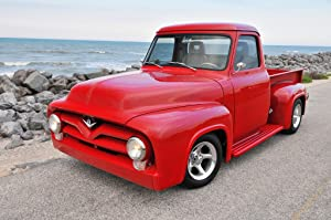 Jigsaw Puzzle 500 Piece for Adults Puzzle 3D Wooden Classic Puzzle Red Car On The Beach Home Decor Art Deco Wall Christmas Unique Gift,52X38Cm