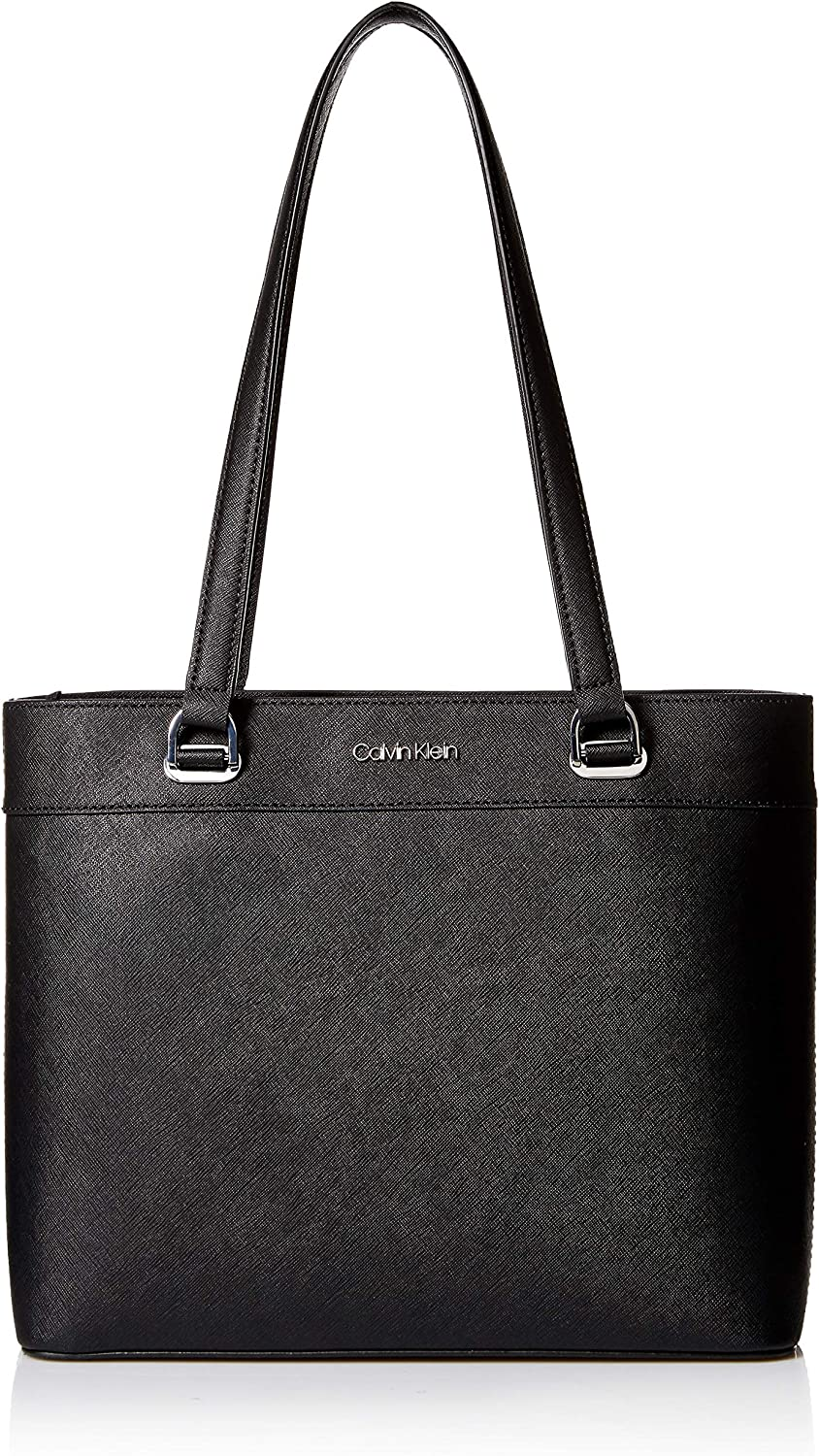 Calvin Klein Mercy Saffiano Leather Organizational North/South Tote