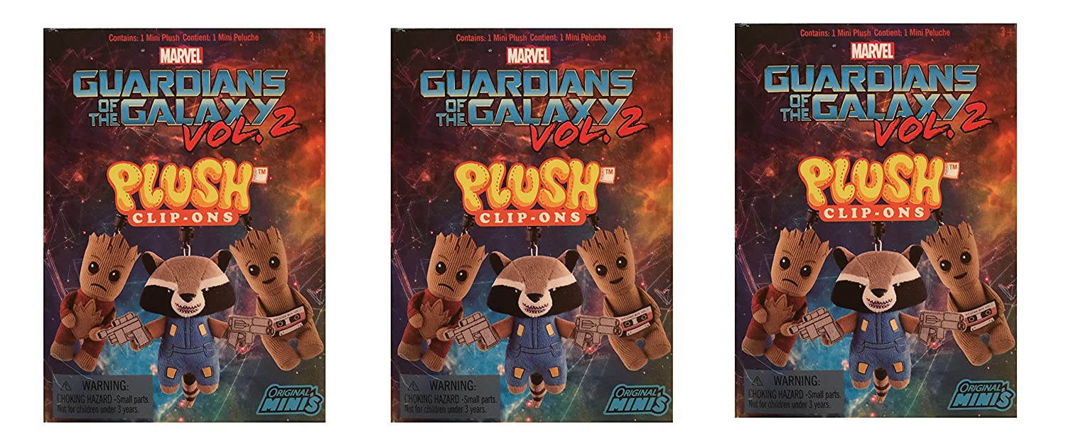 Amazon.com: Marvel Guardians of the Galaxy Vol. 2 Original Minis Plush Clip-Ons, Pack of 3: Toys & Games