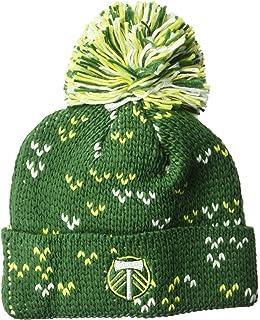 d8be63b6c296d ... closeout adidas mls portland timbers womens fan wear cuffed pom knit  beanie one size green b39e9