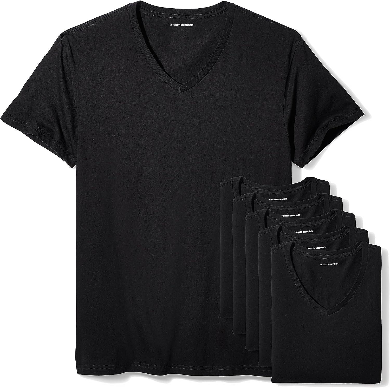 Amazon Essentials Men's 6-Pack V-Neck Undershirts