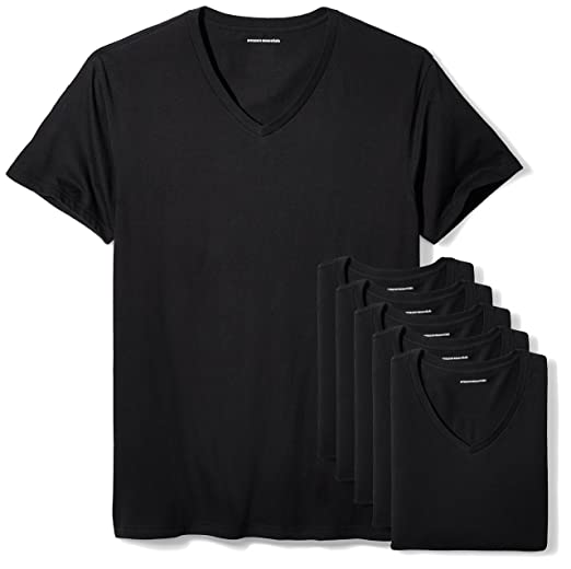 7ab887e7bd6 Amazon Essentials Men's 6-Pack V-Neck Undershirts