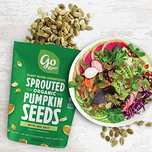 Go Raw Pumpkin Seeds, Sprouted & Organic